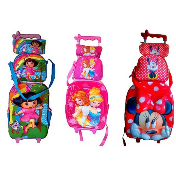 48d63a4381 3D Eva Trolley Backpack 3PCS set- Trolley Backpack