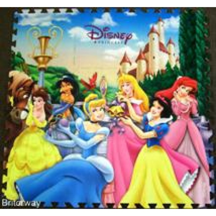 Large 4pc Eva Floor Puzzle Assorted Characters Kids